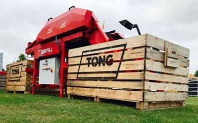 Goodacres Produce Handling Tong Engineering Easyfill Box Filler For Sale UK