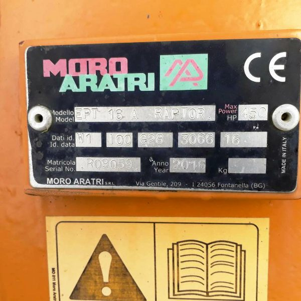 Moro Aratri Raptor 6+1 Plough for Sale UK